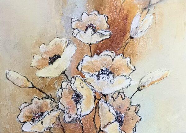 Blumen 5, 120x40cm, Mischtechnik 2021