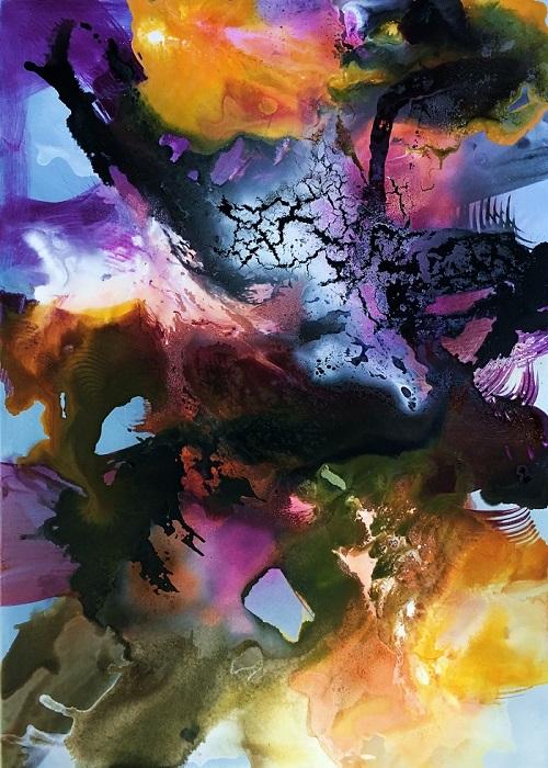 Fest der Farben, 140x100x3cm, Mischtechnik, 2016