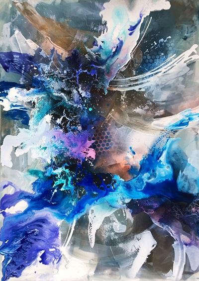 Fest der Farben 4, 140x100cm, Mischtechnik, 2017