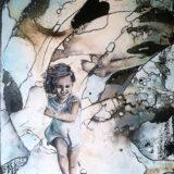 Kind sein-frei sein, 70x50cm, Mischtechnik, 2020