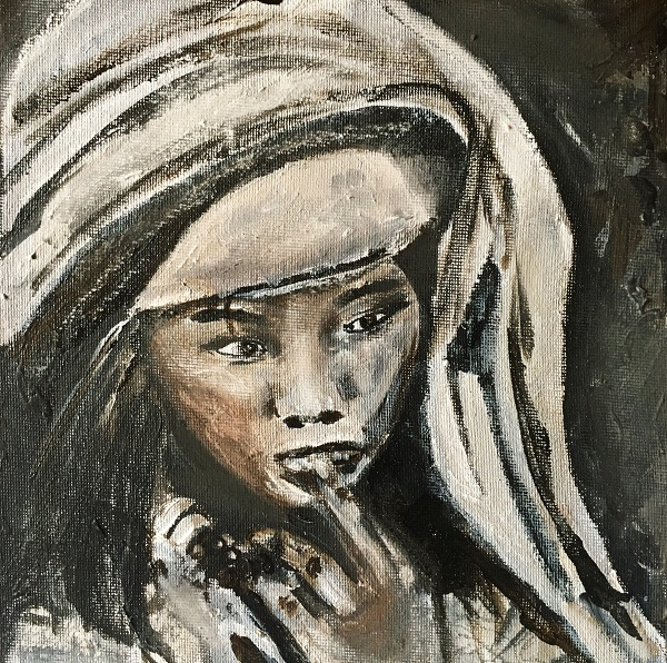 Maedchen, 20x20cm, Acryl, 2018
