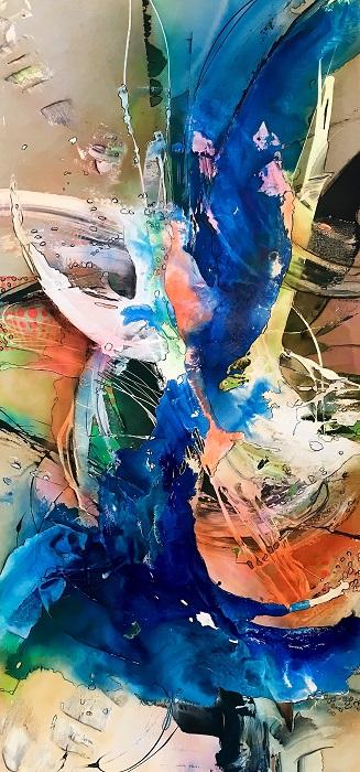 Meine dynamische Farbenwelt-200x100- Mischtechnik-2018-2800fr-ursi-goetz